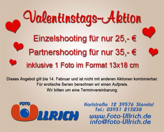 Valentinstags-Aktion