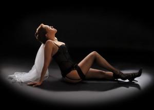 Braut Erotik schwarze Dessous