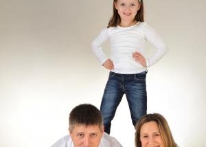 Eltern und Tochter Pyramide