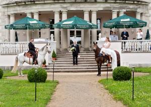 Hochzeit mit Pferden