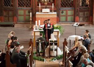 kirchliche Trauung Jacobikirche Blick von Orgelempore