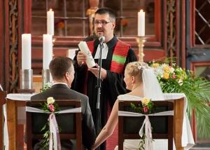 kirchliche Trauung von Orgelempore
