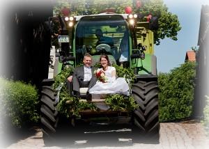Hochzeit Traktor