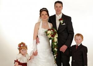 Hochzeits-Portrait Familie