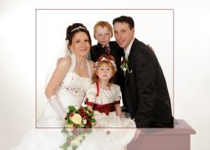 Braut, Bräutigam, Tochter, Sohn