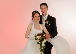 Hochzeits-Portrait stehend