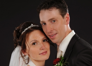 Hochzeits-Portrait Nahaufnahme