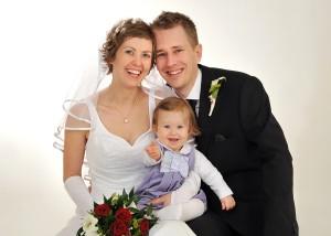 Familien-Hochzeits-Portrait