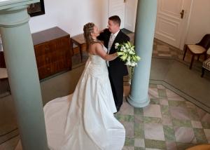 Hochzeits-Portrait Schloss Storkau innen