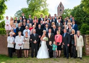Hochzeitsgesellschaft Gruppenaufnahme