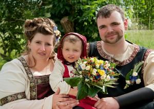 Hochzeits-Portrait Familie/ mittelalterlich