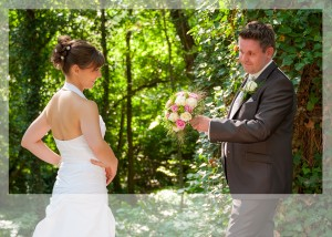 Hochzeits-Portrait im Grünen
