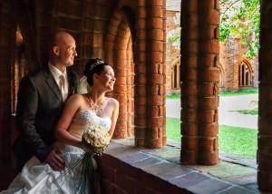Hochzeits-Portrait im Kreuzgang