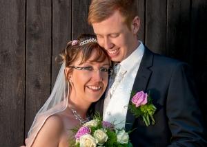Hochzeits-Portrait romantisch