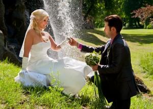 Hochzeits-Portrait Wasserfall Tangerhütte