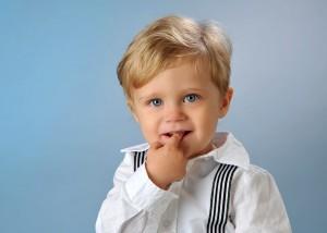 freches Portrait Junge