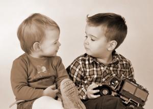 Portrait Kinder sepia