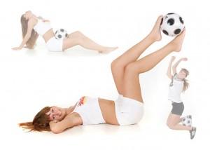 Fußball-Collage