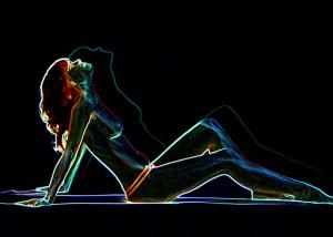 Foto mit leuchtenden Konturen