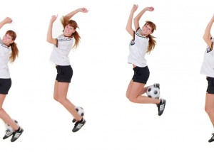 Fußball-Montage