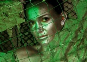 Bodypainting grünes Licht