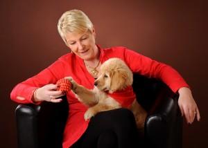 Tier - Portrait mit Frauchen und Hundebaby