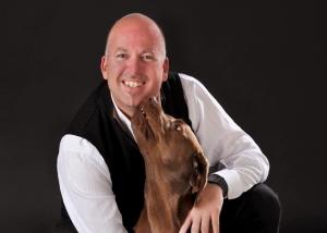 Tier - Portrait mit Hund und Herrchen